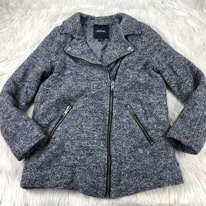 Monki Asymmetrical Zip Front Moto Jacket / Coat